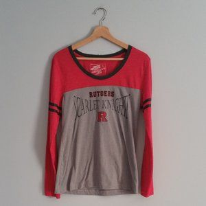 Rutgers Scarlet Knight Long Sleeve T-Shirt Size L